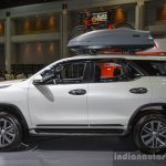 2016 Toyota Fortuner White profile at 2016 BIMS