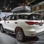 2016 Toyota Fortuner White rear quarters at 2016 BIMS