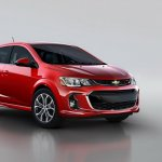 2017 Chevrolet Sonic hatchback front three quarters right side