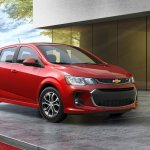 2017 Chevrolet Sonic hatchback front three quarters