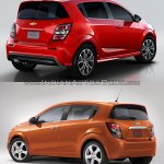2017 Chevrolet Sonic hatchback old vs. new