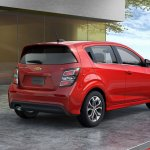 2017 Chevrolet Sonic hatchback rear three quarters