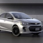 2017 Chevrolet Sonic sedan front three quarters