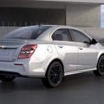 2017 Chevrolet Sonic sedan rear three quarters right side