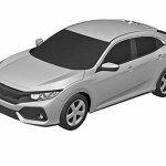 2017 Honda Civic Hatchback patent images front three quarters