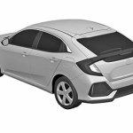 2017 Honda Civic Hatchback patent images rear three quarters