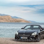 2017 Mercedes SLC43 AMG at 2016 Geneva Motor Show front right three quarter still