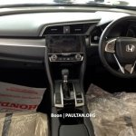 ASEAN-spec 2016 Honda Civic interior dashboard