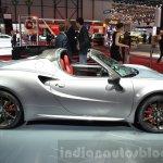 Alfa Romeo 4C Spider side at the 2016 Geneva Motor Show