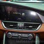 Alfa Romeo Giulia infotainment screen at the 2016 Geneva Motor Show Live