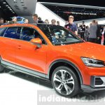 Audi Q2 front three quarter at the 2016 Geneva Motor Show Live
