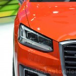 Audi Q2 headlamp at the 2016 Geneva Motor Show Live
