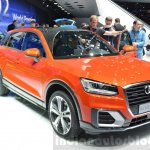 Audi Q2 headlamps, grille at the 2016 Geneva Motor Show Live