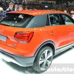 Audi Q2 rear three quarter at the 2016 Geneva Motor Show Live