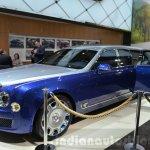 Bentley Mulsanne Grand Limousine by Mulliner front three quarter at 2016 Geneva Motor Show