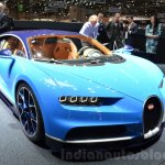 Bugatti Chiron front left three quarter at the 2016 Geneva Motor Show