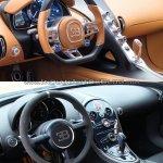 Bugatti Chiron vs. Bugatti Veyron interior dashboard