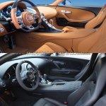 Bugatti Chiron vs. Bugatti Veyron interior