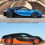 Bugatti Chiron vs. Bugatti Veyron profile