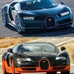 Bugatti Chiron vs. Bugatti Veyron