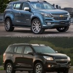 Chevrolet Trailblazer Premier (facelift) vs older model front three quarter