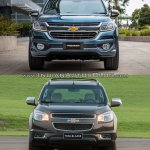 Chevrolet Trailblazer Premier (facelift) vs older model front