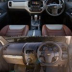 Chevrolet Trailblazer Premier (facelift) vs older model interior