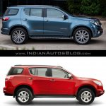 Chevrolet Trailblazer Premier (facelift) vs older model side