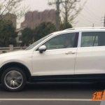 China-spec 2016 VW Tiguan left side spy shot