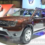 Dacia Duster Essential front three quarters left at the 2016 Geneva Motor Show