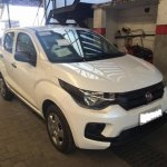 Fiat Mobi white colour front three quarters spotted in Brazil