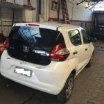 Fiat Mobi white colour rear spotted in Brazil