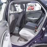 Ford EcoSport Black Edition rear seat at 2016 BIMS