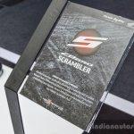 Honda CB650 Scrambler Concept standee at 2016 BIMS