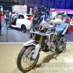 Honda CRF1000L Africa Twin front three quarters at the 2016 Geneva Motor Show