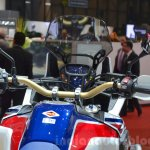 Honda CRF1000L Africa Twin instrument panel at the 2016 Geneva Motor Show