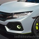Honda Civic Hatchback Prototype foglamp and front bumper at the 2016 Geneva Motor Show