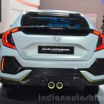 Honda Civic Hatchback Prototype rear at the 2016 Geneva Motor Show