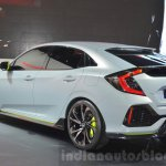 Honda Civic Hatchback Prototype rear three quarter view at the 2016 Geneva Motor Show
