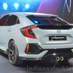 Honda Civic Hatchback Prototype rear three quarters at the 2016 Geneva Motor Show