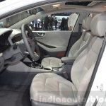 Hyundai Ioniq Hybrid front cabin at the 2016 Geneva Motor Show Live