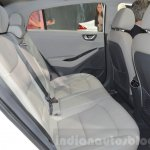 Hyundai Ioniq Hybrid rear seats at the 2016 Geneva Motor Show Live