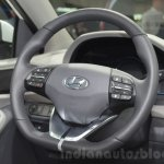 Hyundai Ioniq Hybrid steering wheel at the 2016 Geneva Motor Show Live