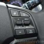 Hyundai Tucson steering mounted controls at 2016 Geneva Motor Show