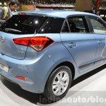 Hyundai i20 GO! rear three quarter at the 2016 Geneva Motor Show
