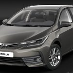 India-bound 2017 Toyota Corolla Altis (facelift) front unveiled