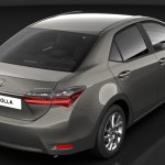 India-bound 2017 Toyota Corolla Altis (facelift) rear three quarter unveiled