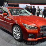 Infiniti Q50 Hybrid front three quarters at the 2016 Geneva Motor Show