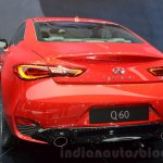 Infiniti Q60 rear at the 2016 Geneva Motor Show