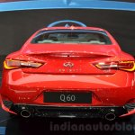 Infiniti Q60 rear view at the 2016 Geneva Motor Show